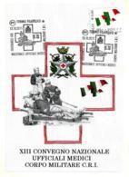 [MD2516] CPM - XIII CONVEGNO NAZIONALE UFFICIALI MEDICI CORPO MILITARE C.R.I. - CON ANNULLO 13.10.2011 - Non Viaggiata - Militari