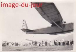 Photo Ancienne Camp De Vol A Voile D' Avranches 1935   Le Départ  ( Aviation Planeur ) - Aviation
