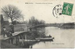 D72 - FILLE - LE PONT ET LES PÊCHEURS  DE CARPES  - Femmes-Enfants-Hommes- Barques - Autres Communes