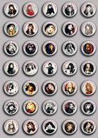 35 X ROCK STEVIE NICKS Music Fan ART BADGE BUTTON PIN SET 5 (1inch/25mm Diameter) - Music