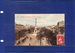 ##(ROYBOX1)-Postcards- Portugal - Lisboa -  Avenida Da Liberdade - Used 1914 - Lisboa