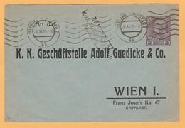 Aut.7 Autriche 1.W.W ( 14-18) Censures KuK Militärzenzur MARBURG 26.11.15+ Vignette Sur Entier Postal Privé - Briefe U. Dokumente