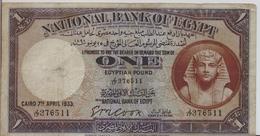 EGYPT  P. 22b 1 P 1932 F/VF - Egitto