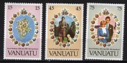 VANUATU N° 628/30 XX Mariage Royal Du Prince Charles Et De Lady Diana Spencer Sans Charnière TB - Vanuatu (1980-...)