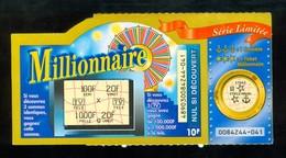 Garttage FDJ - FRANCAISE DES JEUX - MILLIONNAIRE 48903 - Trait Rouge - Billets De Loterie
