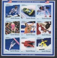 Olympics 2002 - Ice Hockey - GUINEA BISSAU - Sheet Imperf. MNH - Winter 2002: Salt Lake City
