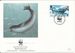 British Antarctic Territory FDC WWF Cover 20-10-1992 With PANDA On The Stamp With Cachet - FDC