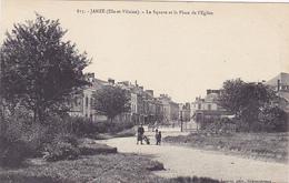 Cpa-35-janzé-Pas Sur Delc.-personnages-square, Place De L'eglise-edi Lacroix N°815 - Frankreich