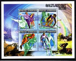 Olympics 2002 - Figure Skate - C.-AFRICA - Sheet MNH - Winter 2002: Salt Lake City