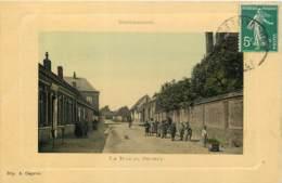 62 - BERTINCOURT - La Rue De Savary En 1910 (couleur Animée) - Bertincourt