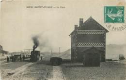 62 - MERLIMONT PLAGE - La Gare Avec Train - Autres Communes