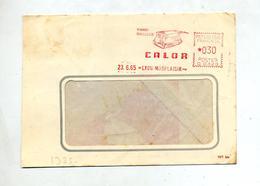 Lettre Flamme Ema Lyon Vibro-masseur Calor Au Dos Fer à Repasser - Postmark Collection (Covers)