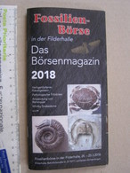 Z.06 FOSSILI DEPLIANT GERMANY - 2018 FOSSILIEN BOURS FILDERHALLE STUTTGART STOCCARDA - 44 PAGE - Fossili