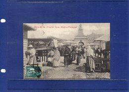##(ROYBOX1)-Postcards- Portugal - Lisboa -  Mercado Da Ribeira Nova - Used 1913 - Lisboa