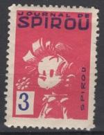 Journal De Spirou. Timbre Représentant Spirou D'une Valeur De ? 3 ?. Original !!! - Fantasie Vignetten