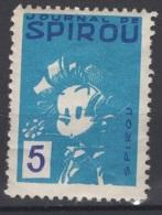 Journal De Spirou. Timbre Représentant Spirou D'une Valeur De ? 5 ?. Original !!! - Fantasie Vignetten