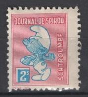 Journal De Spirou. Timbre Représentant  Un Schtroumpf, D'une Valeur De ? 2 S ?. Original !!! - Fantasie Vignetten