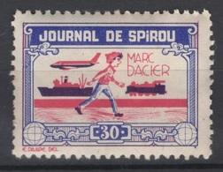Journal De Spirou. Timbre Représentant  Marc Dacier, D'une Valeur De ? 30 ?. Original !!! - Fantasie Vignetten