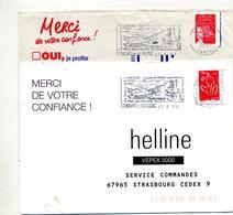 Lettre Flamme Condat En Feniers Parc Des Volcans - Postmark Collection (Covers)