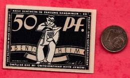 Allemagne 1 Notgeld De 50 Pfenning Stadt Bentheim UNC  N °2426 - [ 3] 1918-1933 : République De Weimar