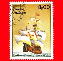 GUINEA BISSAU - 1985 - Navi A Vela - Velieri - Santa Maria - 8.00 - Guinea-Bissau