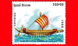 GUINEA BISSAU - 1988 - Navi - Velieri - Egitto - Nave Del Faraone Ramses III -  1 200 AC - 200 - Guinea-Bissau