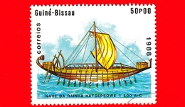 GUINEA BISSAU - 1988 - Navi - Velieri - Egitto - Nave Della Regina Hatshepsut -  1 700 AC - 50 - Guinea-Bissau