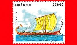 GUINEA BISSAU - 1988 - Navi - Velieri - Grecia - Trireme Greca -  480 AC - 300 - Guinea-Bissau