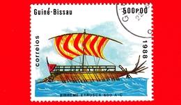 GUINEA BISSAU - 1988 - Navi - Velieri - Italia - Trireme Etrusca -  600 AC - 500 - Guinea-Bissau