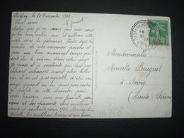 CP TP SEMEUSE 10c OBL. Perlée 31-12 23 OISELAY ET GRACHAUX HTE SAONE (70) - Poststempel (Briefe)
