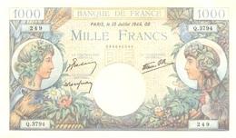 1.000 FRANCS 13 JUILLET 1944 - 1 000 F 1940-1944 ''Commerce Et Industrie''