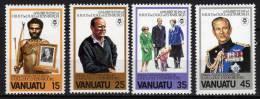 VANUATU N° 624/27 X Anniversaire Du Duc D'Edimbourg Les 4 Valeurs Trace De Charnière Sinon TB - Vanuatu (1980-...)