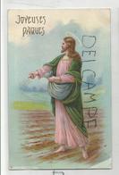 Joyeuses Pâques. Christ Semeur Dans Un Champs Labouré. - Pâques