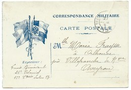 CARTE EN FRANCHISE / CORRESPONDANCE MILITAIRE / 24° COLONIAL 1916 - Poststempel (Briefe)