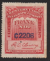 1905, US Western Union Telegraph Stamp - Telegraph Stamps