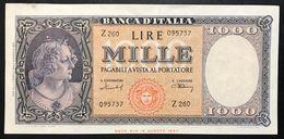 1000 LIRE Italia Medusa 11 02 1949 Raro Spl+  LOTTO 1917 - [ 2] 1946-… : République