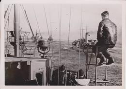 Deutsche Minensuchflotte ATLANTIC KRIEGSMARINE FOTO DE PRESSE WW2 WWII WORLD WAR 2 WELTKRIEG Aleman Deutchland - Krieg, Militär
