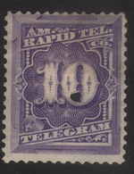 US, Rapid Tel. Co. 10c, Telegram Stamp, MH Punched, Sc 1T4 - Telegraph Stamps