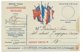 CARTE EN FRANCHISE / CORRESPONDANCE MILITAIRE /  1917 - Poststempel (Briefe)