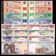 Nigeria Full Set 5 10 20 50 100 200 500 1000 Naira 2016-2018 Pick New UNC - Nigeria