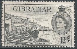 Gibraltar. 1953-59 QEII. 1½d Used. SG147 - Gibraltar