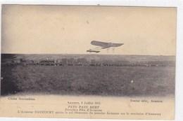 Auxerre 2 Juillet 1911 - Fête Paul Bert - Première Fête D'Aviation - L'Aviateur Daucourt Quitte Le Sol - Aviation