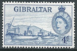 Gibraltar. 1953-59 QEII. 4d MH. SG151 - Gibraltar