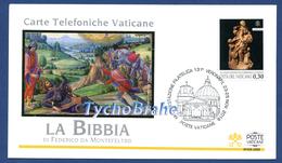 FDC BIBBIA FEDERICO DA MONTEFELTRO 2018 VATICANO - BIBLE VERONAFIL VATICAN First Day Cover Busta Primo Giorno PV/97 - FDC