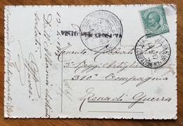 POSTA MILITARE *TRUPPE OCCUPAZIONE N.1 * 13/4/17 CARTOLINA  CON VERSI DI  MARRADI PER ZONA DI GUERRA - Guerra 1914-18