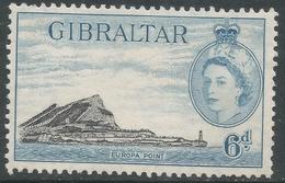 Gibraltar. 1953-59 QEII. 6d MH. SG153 - Gibraltar