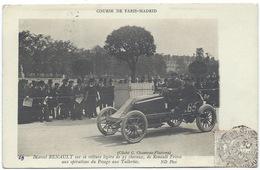 MARCEL RENAULT Sur Sa Voiture Renault De 25 Cv - Gros Plan - PARIS-MADRID 1903 -il Est Mort Pendant Cette Course - Sport Automobile
