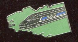 Pin's - Tgv TRAIN Carte Bretagne - TGV