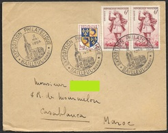 Exposition Philatelique Bailleul - 2 Mai 1954 - Centenaire Du Géant Des  Flandres - Avec YT 943 - Marcophilie (Lettres)