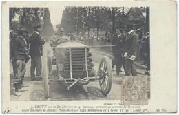 JARROTT Sur Sa De Diétrich De 45 Cv - Gros Plan - Grand Prix PARIS-MADRID 1903 - Classé 4ème - Sport Automobile